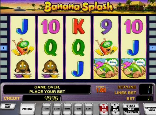 Banana Splash play the pokies online