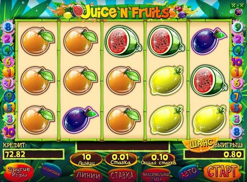 Bonus combination of pokies Juice and Fruits