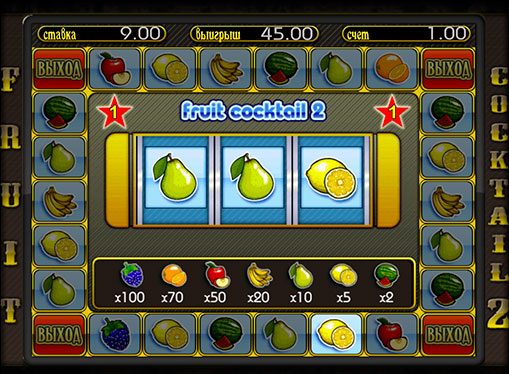 Bonus game of pokies Fruit Cocktail 2