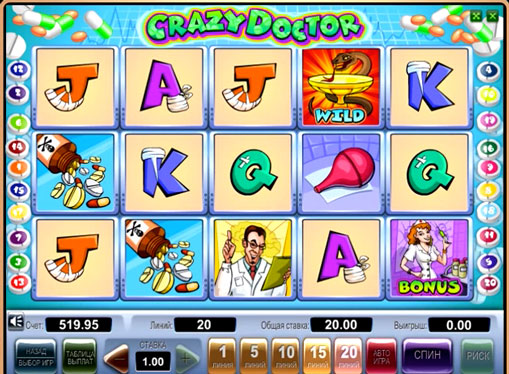 Crazy Doctor play the pokies online for money