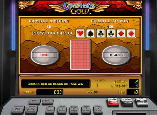 Doubling game of pokies Gryphons Gold