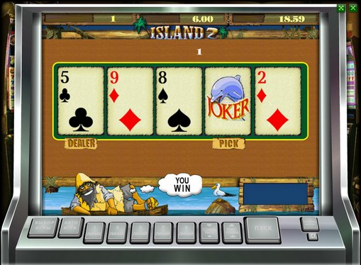 Doubling game of pokies Island 2