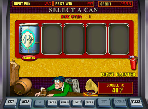 Doubling game of pokies Lucky Haunter