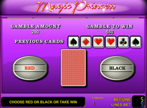 Doubling game of pokies Magic Princess