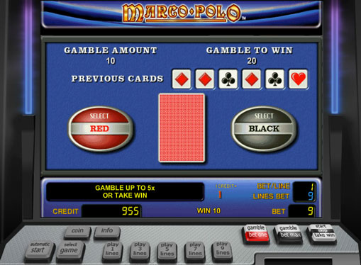 Doubling game of pokies Marco Polo