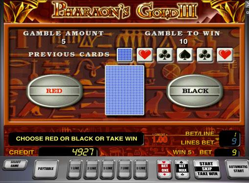 Doubling game of pokies Pharaoh's Gold III