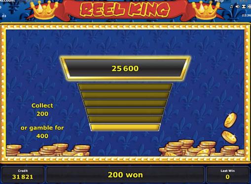 Doubling game of pokies Reel King