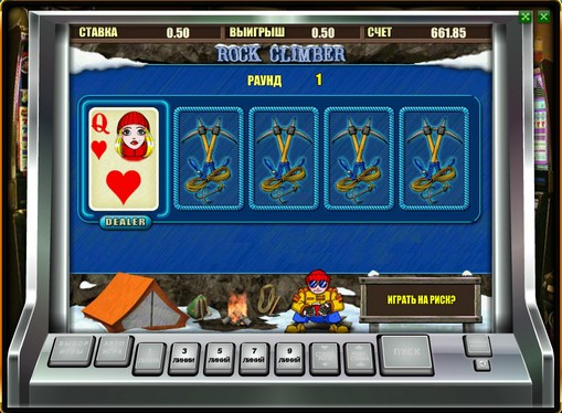 Doubling game of pokies Rock Climber