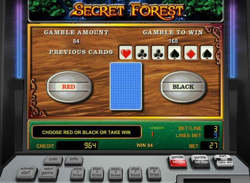 Doubling game of pokies Secret Forest