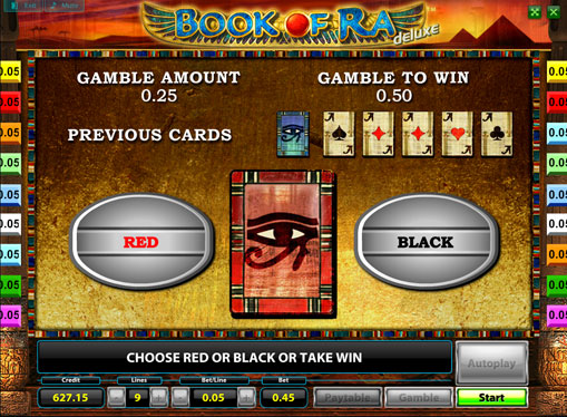 Doubling game of pokies Book of Ra deluxe