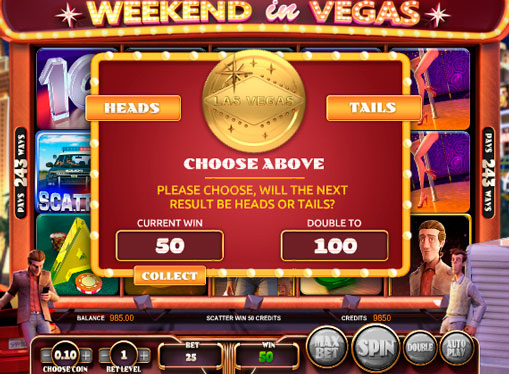 Features on the online pokies Weekend in Vegas