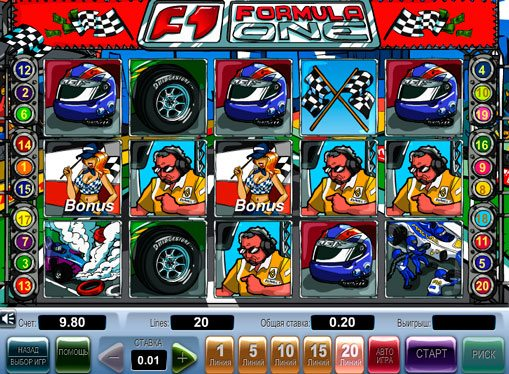 Formula 1 play the pokies online for money