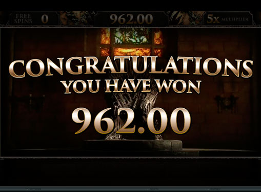 Freespins and benefit from the four houses Game of Thrones
