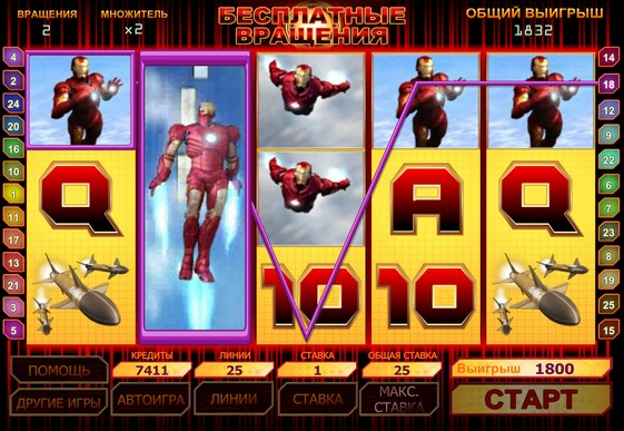 Free spins of pokies Iron Man