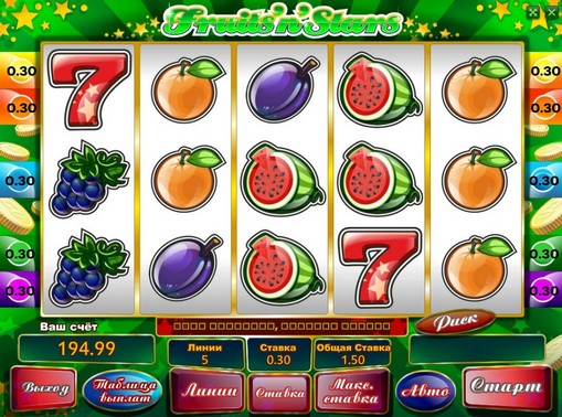 Fruits n Stars play the pokies online for money
