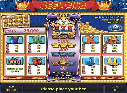 Gaming signs of pokies Reel King