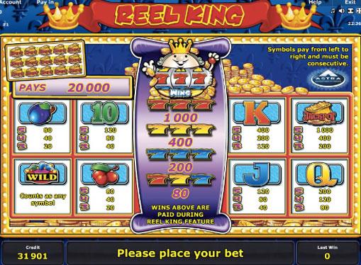 Gaming signs of pokies Reel King