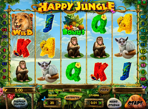 Happy Jungle play the pokies online