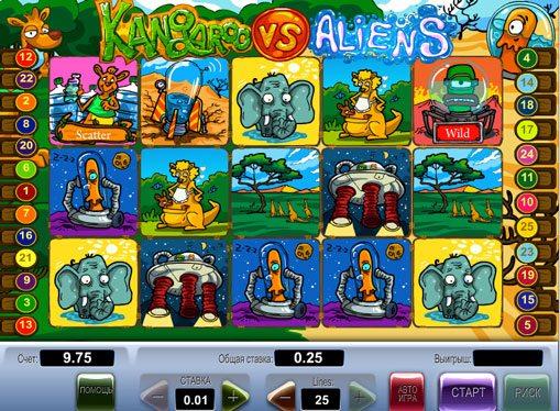 Kangaroo vs Aliens play the pokies online for money