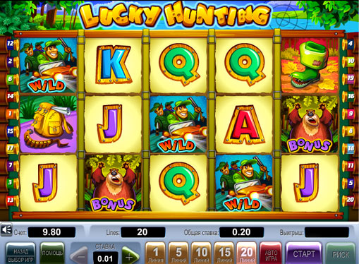 Lucky Hunting play the pokies online