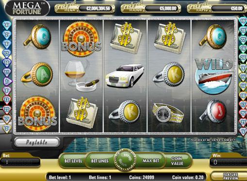 Mega Fortune play the pokies online