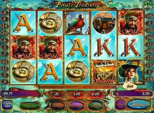Paytable of pokies Pirates Treasures HD