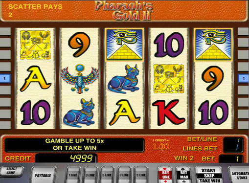 Pharaohs Gold II play the pokies online