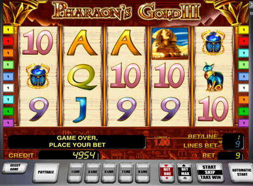 Pharaoh's Gold III play the pokies online
