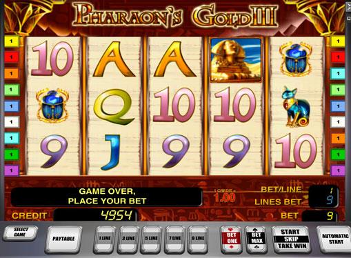 Pharaoh's Gold III play the pokies online