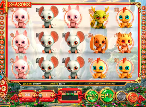 Play pokies machine Four Seasons on money payments