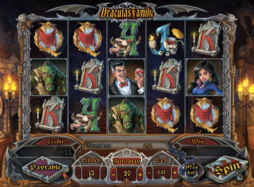 Pokies machine Dracula`s Family for money