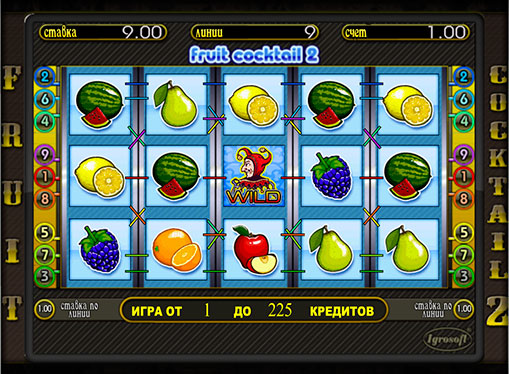 The reels of pokies Fruit cocktail 2