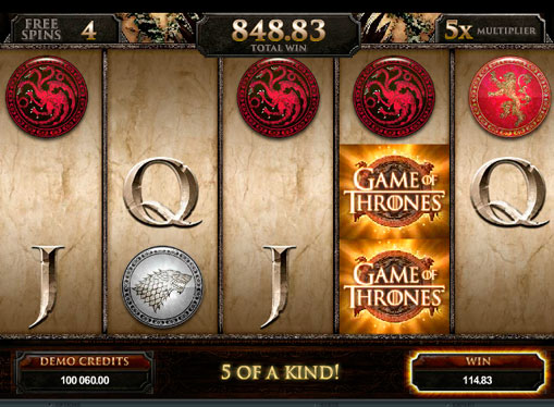Pokies machine Game of Thrones for real money