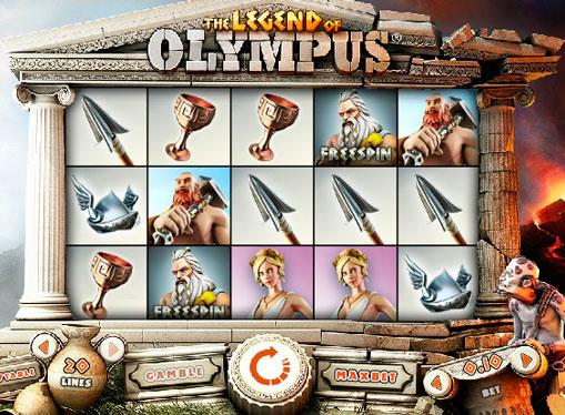 Pokies machine Legend of Olympus online for money