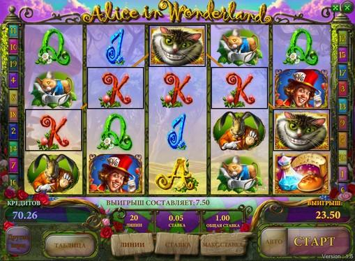 Prizes of pokies Alice in wonderland