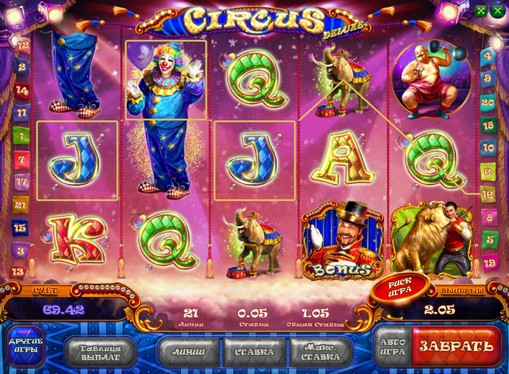 Prizes of pokies Circus HD