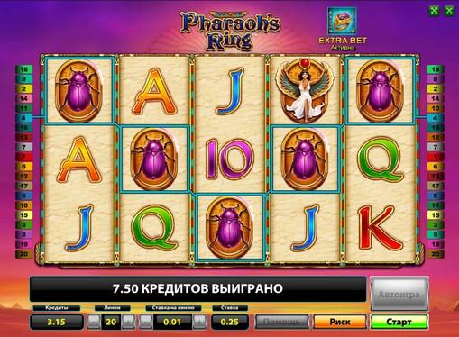 Prizes of pokies Pharaohs Ring
