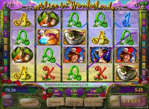Bonus combination of pokies Alice in wonderland