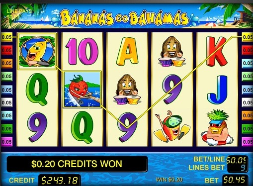 The reels of pokies Bananas go Bahamas