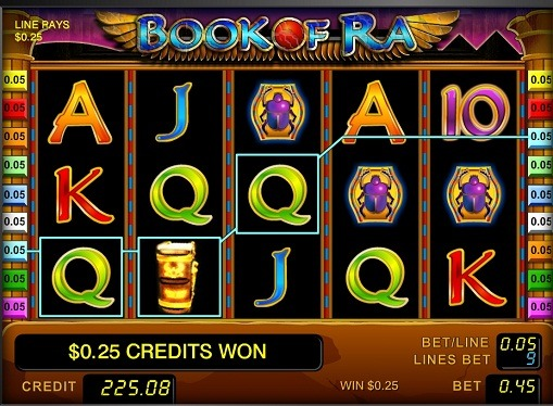 The reels of pokies Book of Ra