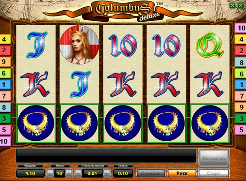 The reels of pokies Columbus Deluxe