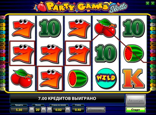 The reels of pokies Party Games Slotto