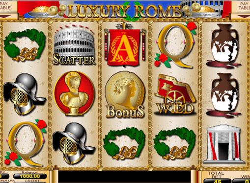 Reels of Luxury Rome pokies machine