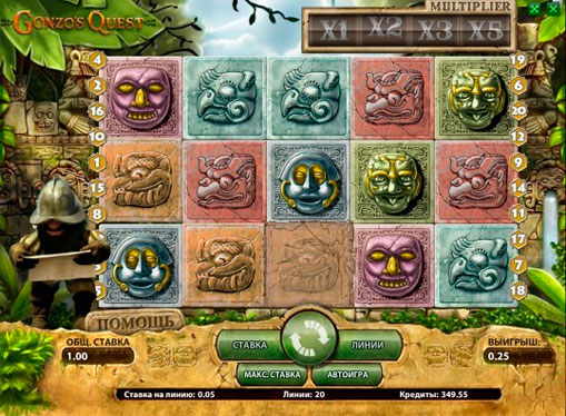 The reels of pokies Gonzo's Quest