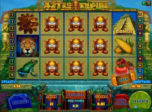 The reels of pokies Aztec Empire