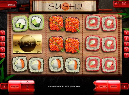Reels of the pokies machine Sushi