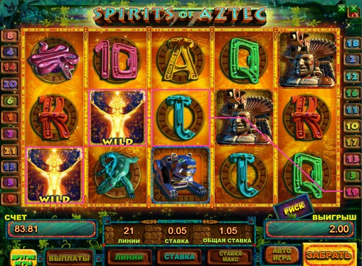 Spirits of Aztec play the pokies online for money