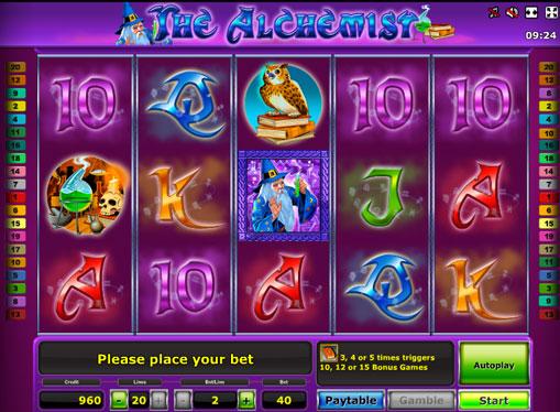 The Alchemist play the pokies online