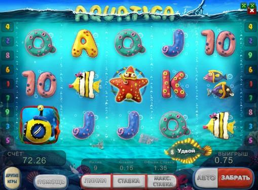 The appearance of pokies Aquatica