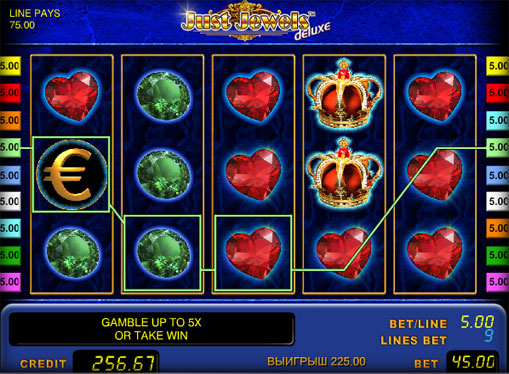 Just Jewels deluxe Play the pokies online